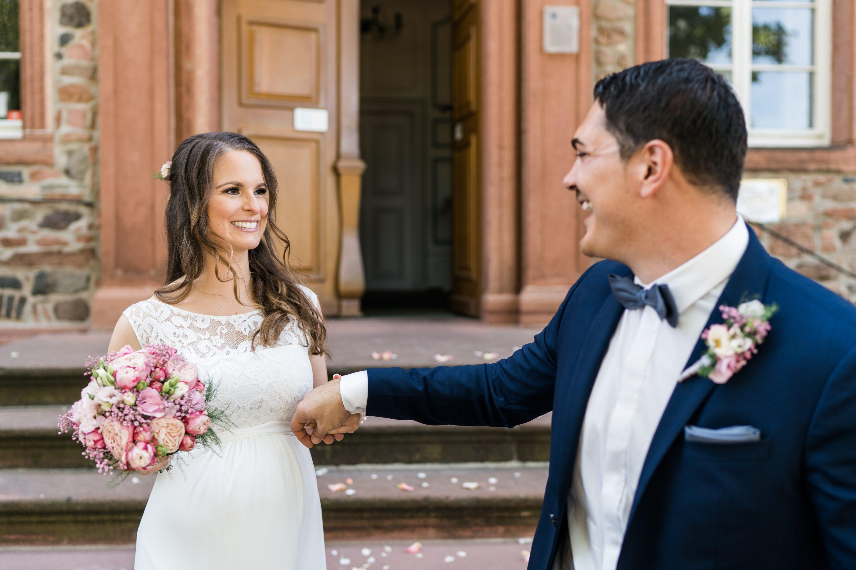 Brautpaar zur Hochzeit im Schloss Langenselbold